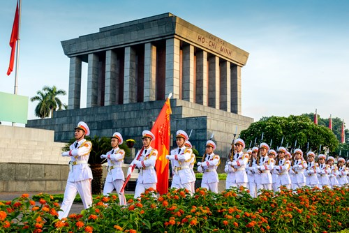 Ba Dinh square  and Ho Chi Minh Mausoleum
