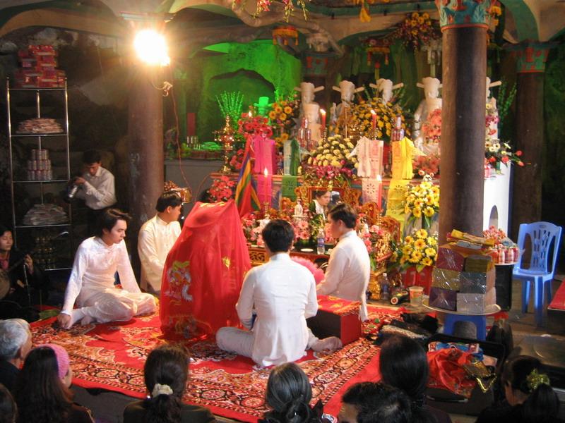 El rituel HauDong en el templo